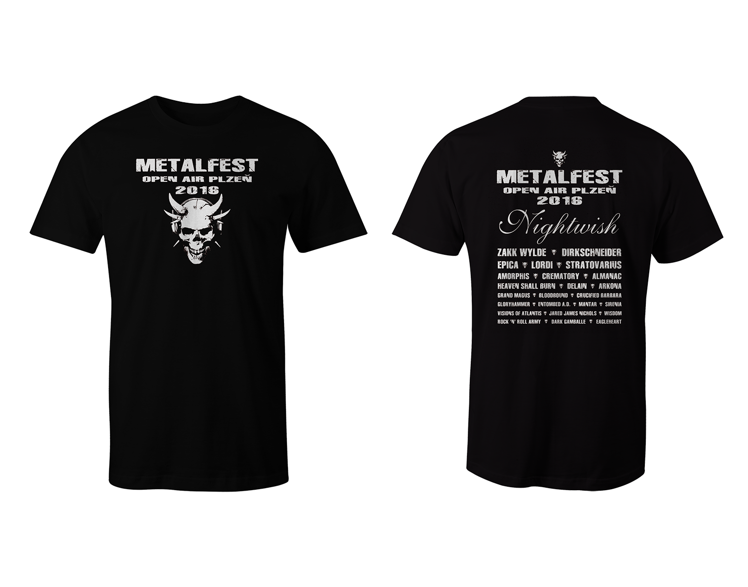 Men T-Shirt MOA Black-White 2016