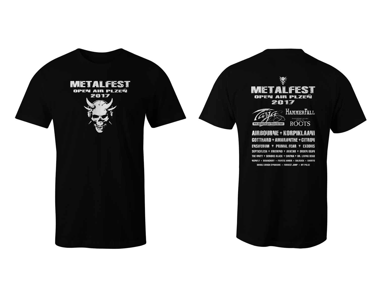 Men T-Shirt Black-White MOA 2017